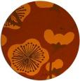 rug #566377 | round red-orange gradient rug