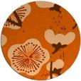 rug #566381 | round red-orange gradient rug