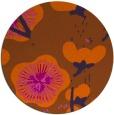 rug #566385 | round red-orange gradient rug