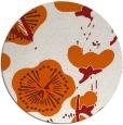 rug #566389 | round red-orange gradient rug