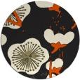 rug #566429 | round black gradient rug