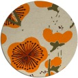 rug #566437 | round orange gradient rug