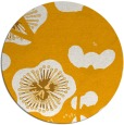 rug #566457 | round light-orange gradient rug