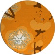 rug #566465 | round light-orange gradient rug
