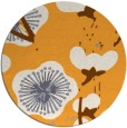 rug #566469 | round light-orange gradient rug