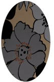 rug #567185   oval black natural rug
