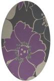 rug #567357   oval purple natural rug