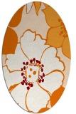 rug #567369   oval orange popular rug