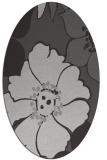 rug #567377 | oval orange natural rug