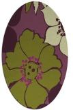 rug #567405   oval purple natural rug
