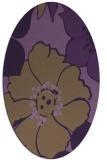 rug #567409 | oval mid-brown popular rug