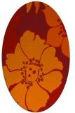rug #567421 | oval orange natural rug