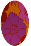 rug #567429 | oval pink natural rug