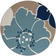 rug #567905 | round blue-green natural rug