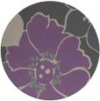rug #568061   round purple natural rug