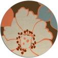 rug #568077 | round orange rug