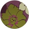 rug #568109 | round purple natural rug