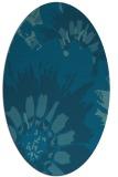rug #568989 | oval blue-green natural rug