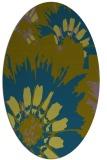 rug #568997 | oval blue-green natural rug
