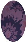 rug #569033   oval purple natural rug