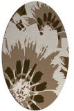 rug #569089   oval beige natural rug