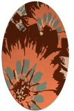 rug #569137 | oval red-orange natural rug