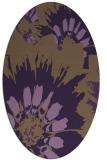 rug #569169   oval purple natural rug
