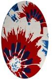 rug #569177 | oval red rug
