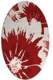 rug #569185 | oval red rug