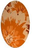 rug #569197 | oval red-orange natural rug