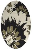 rug #569245 | oval black natural rug
