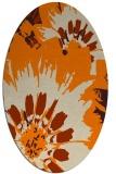 rug #569253   oval orange natural rug