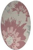 rug #569277 | oval pink natural rug