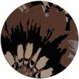 rug #569657 | round black natural rug