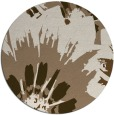 rug #569793 | round mid-brown natural rug