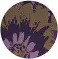 rug #569873 | round purple natural rug