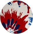 rug #569881 | round red popular rug