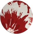 rug #569889 | round red rug