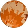 rug #569901 | round red-orange natural rug