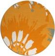 rug #569985 | round light-orange natural rug