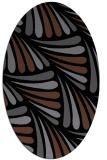 rug #572465 | oval black retro rug