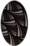 rug #572469 | oval black retro rug