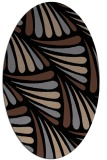 rug #572473 | oval brown rug