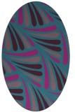 rug #572521   oval pink retro rug