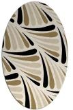 rug #572533 | oval blue-green rug