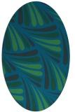 rug #572537   oval blue retro rug