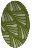 rug #572581   oval green rug