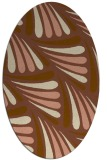 rug #572601 | oval brown rug