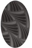 rug #572605 | oval brown retro rug