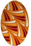 rug #572649 | oval orange retro rug